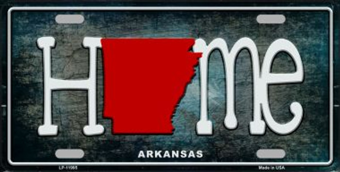 Arkansas Home State Outline Novelty License Plate LP-11995