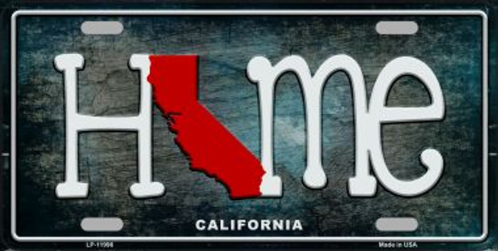 California Home State Outline Novelty License Plate LP-11996