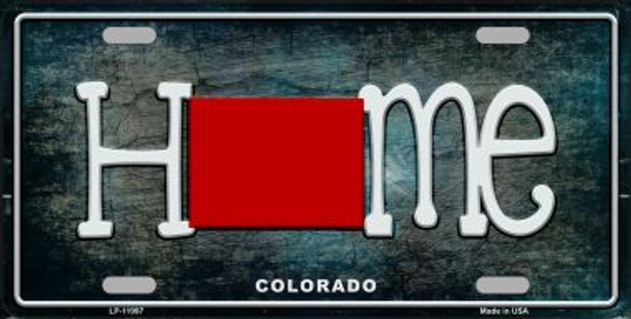 Colorado Home State Outline Novelty License Plate LP-11997
