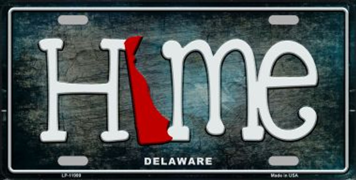 Delaware Home State Outline Novelty License Plate LP-11999