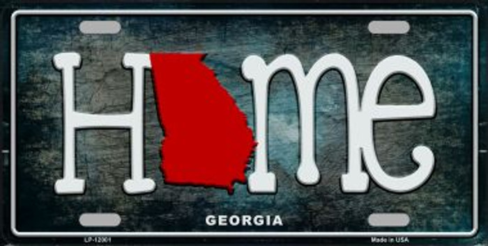 Georgia Home State Outline Novelty License Plate LP-12001