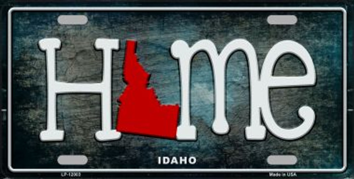 Idaho Home State Outline Novelty License Plate LP-12003