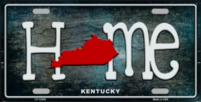 Kentucky Home State Outline Novelty License Plate LP-12008