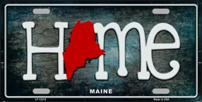 Maine Home State Outline Novelty License Plate LP-12010