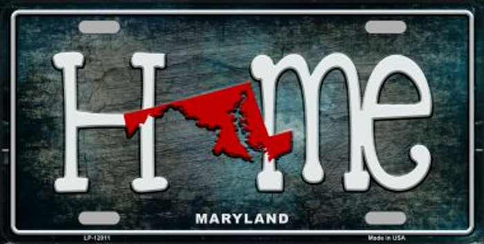Maryland Home State Outline Novelty License Plate LP-12011