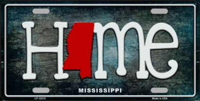 Mississippi Home State Outline Novelty License Plate LP-12015