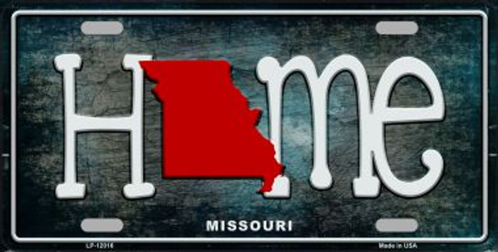 Missouri Home State Outline Novelty License Plate LP-12016