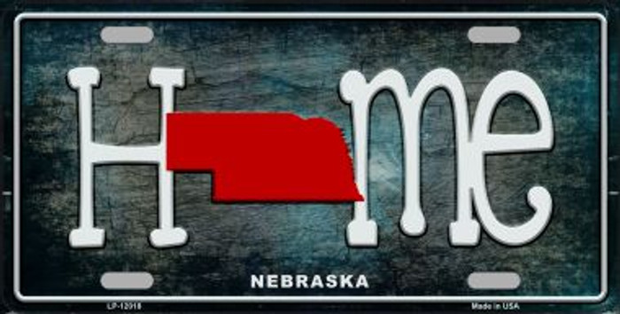 Nebraska Home State Outline Novelty License Plate LP-12018