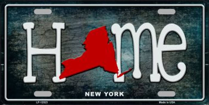 New York Home State Outline Novelty License Plate LP-12023