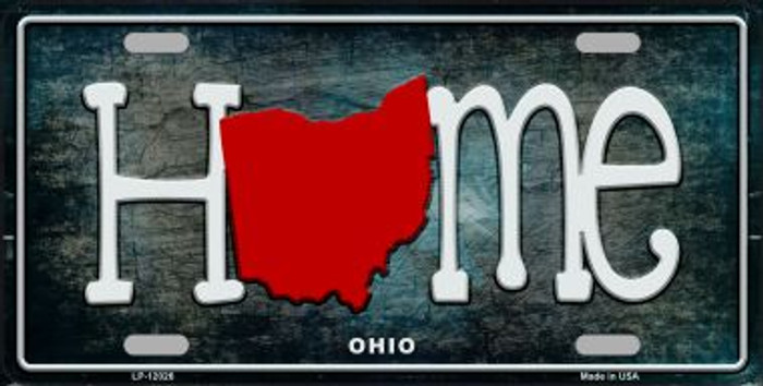 Ohio Home State Outline Novelty License Plate LP-12026