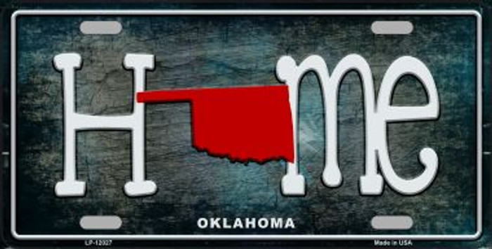 Oklahoma Home State Outline Novelty License Plate LP-12027