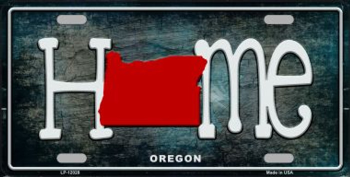 Oregon Home State Outline Novelty License Plate LP-12028