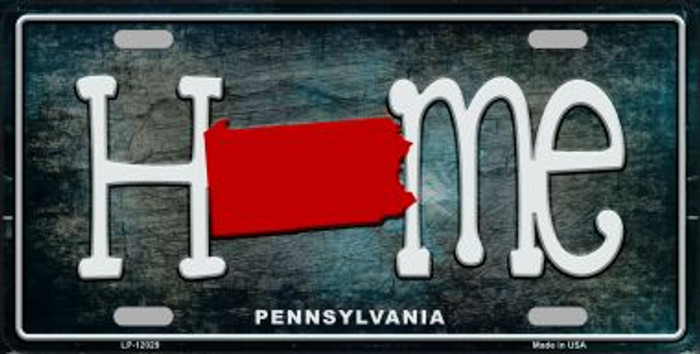 Pennsylvania Home State Outline Novelty License Plate LP-12029