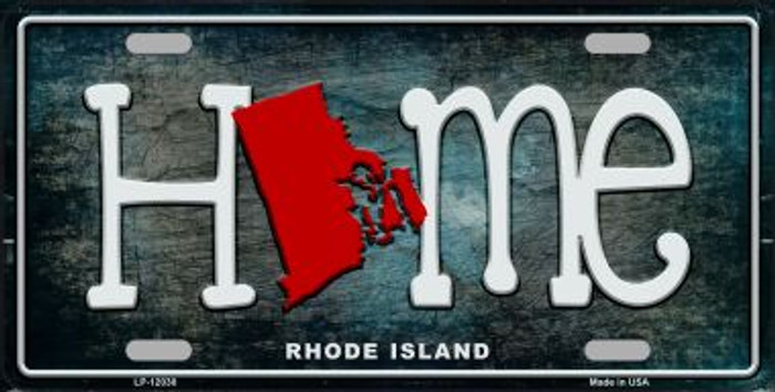Rhode Island Home State Outline Novelty License Plate LP-12030