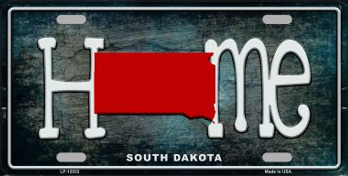 South Dakota Home State Outline Novelty License Plate LP-12032