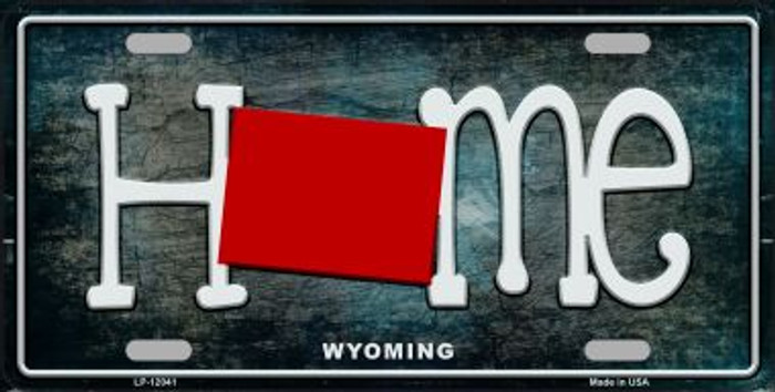 Wyoming Home State Outline Novelty License Plate LP-12041