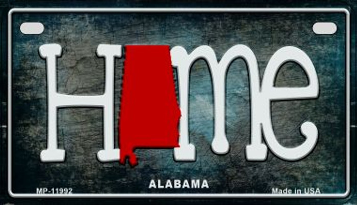 Alabama Home State Outline Novelty Motorcycle Plate MP-11992