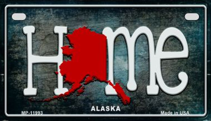 Alaska Home State Outline Novelty Motorcycle Plate MP-11993