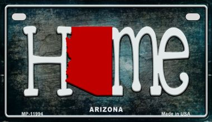 Arizona Home State Outline Novelty Motorcycle Plate MP-11994