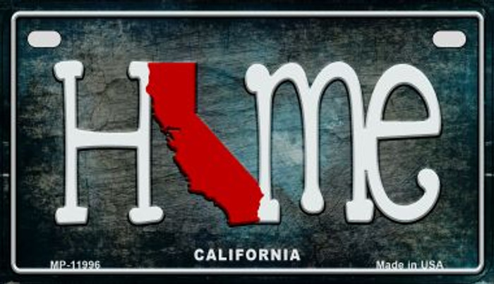 California Home State Outline Novelty Motorcycle Plate MP-11996