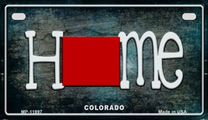 Colorado Home State Outline Novelty Motorcycle Plate MP-11997