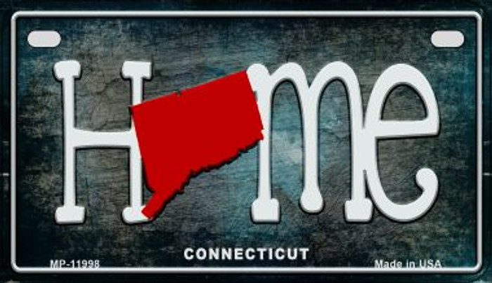 Connecticut Home State Outline Novelty Motorcycle Plate MP-11998