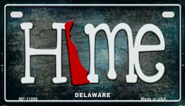 Delaware Home State Outline Novelty Motorcycle Plate MP-11999