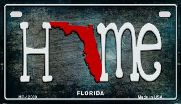 Florida Home State Outline Novelty Motorcycle Plate MP-12000