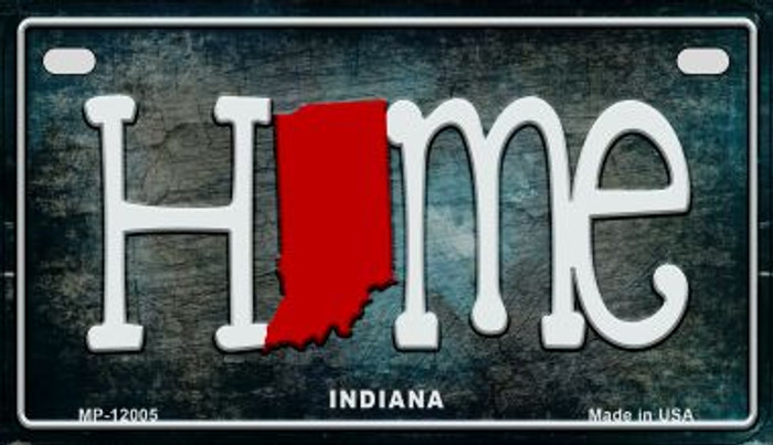 Indiana Home State Outline Novelty Motorcycle Plate MP-12005