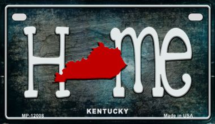 Kentucky Home State Outline Novelty Motorcycle Plate MP-12008