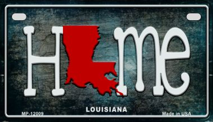 Louisiana Home State Outline Novelty Motorcycle Plate MP-12009