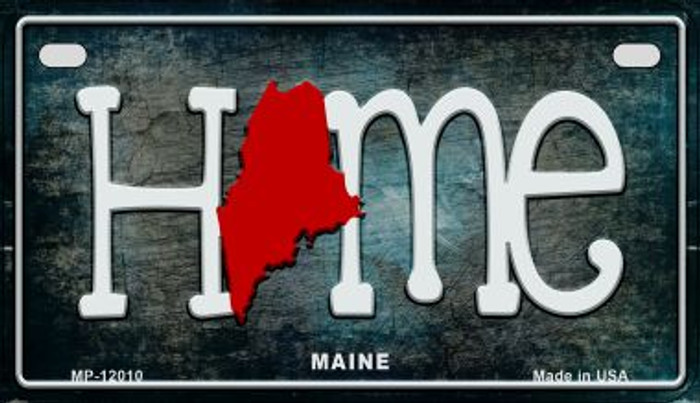 Maine Home State Outline Novelty Motorcycle Plate MP-12010