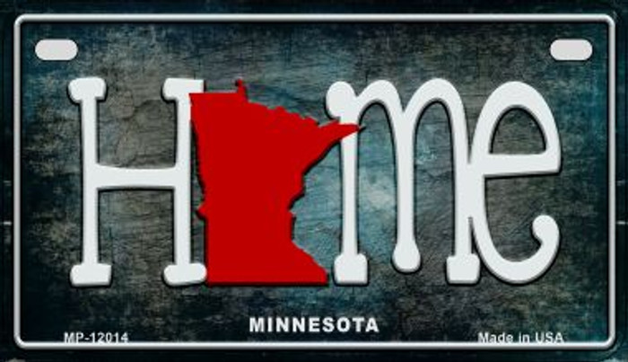 Minnesota Home State Outline Novelty Motorcycle Plate MP-12014