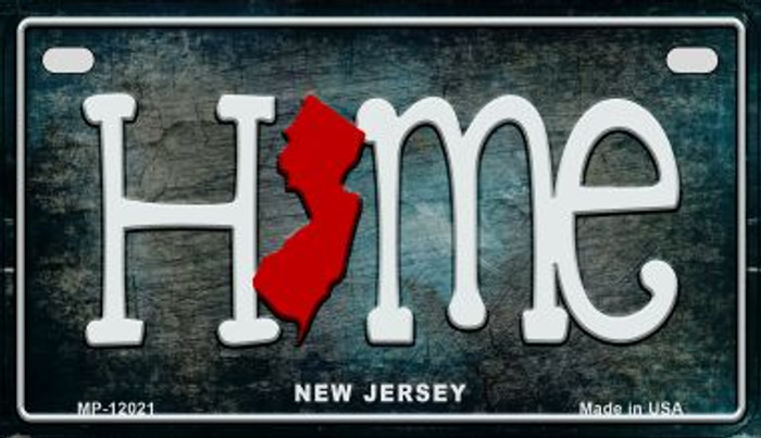 New Jersey Home State Outline Novelty Motorcycle Plate MP-12021