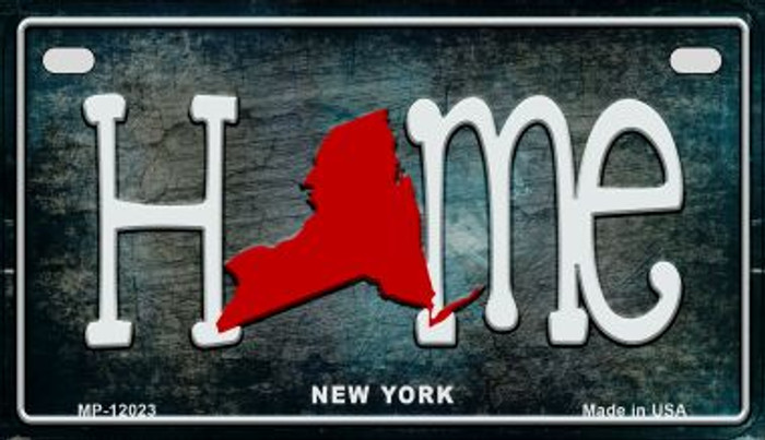 New York Home State Outline Novelty Motorcycle Plate MP-12023