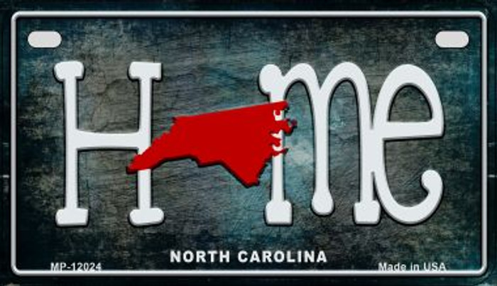 North Carolina Home State Outline Novelty Motorcycle Plate MP-12024