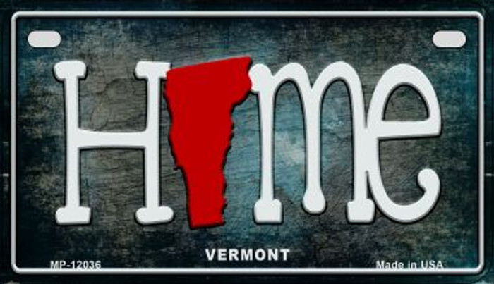 Vermont Home State Outline Novelty Motorcycle Plate MP-12036