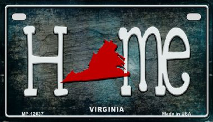 Virginia Home State Outline Novelty Motorcycle Plate MP-12037