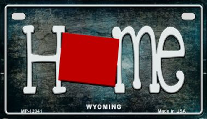 Wyoming Home State Outline Novelty Motorcycle Plate MP-12041