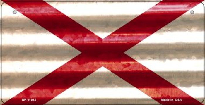 Alabama Corrugated Flag Novelty Bicycle Plate BP-11942