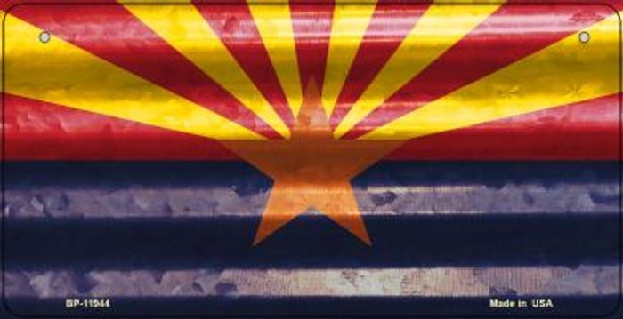Arizona Corrugated Flag Novelty Bicycle Plate BP-11944