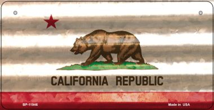 California Corrugated Flag Novelty Bicycle Plate BP-11946
