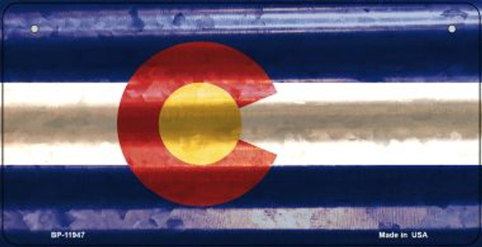 Colorado Corrugated Flag Novelty Bicycle Plate BP-11947
