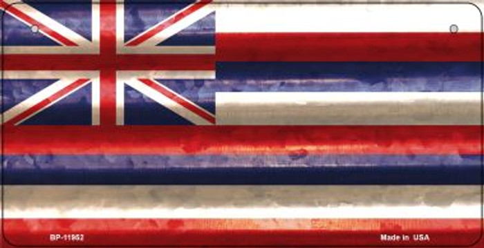 Hawaii Corrugated Flag Novelty Bicycle Plate BP-11952