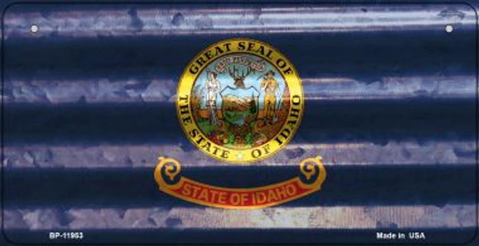 Idaho Corrugated Flag Novelty Bicycle Plate BP-11953