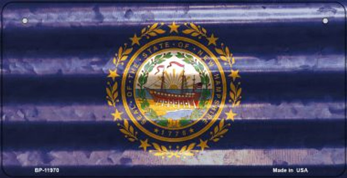 New Hampshire Corrugated Flag Novelty Bicycle Plate BP-11970