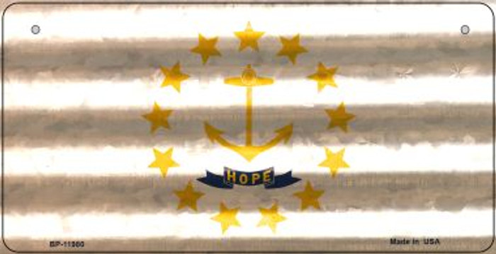 Rhode Island Corrugated Flag Novelty Bicycle Plate BP-11980
