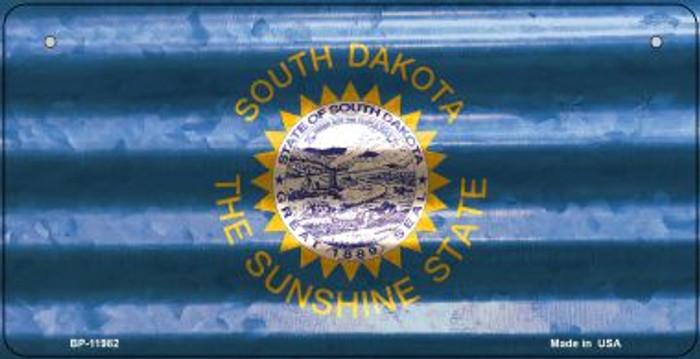 South Dakota Corrugated Flag Novelty Bicycle Plate BP-11982