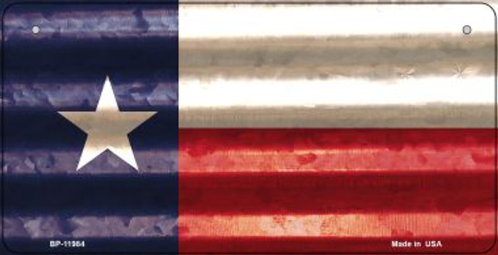 Texas Corrugated Flag Novelty Bicycle Plate BP-11984