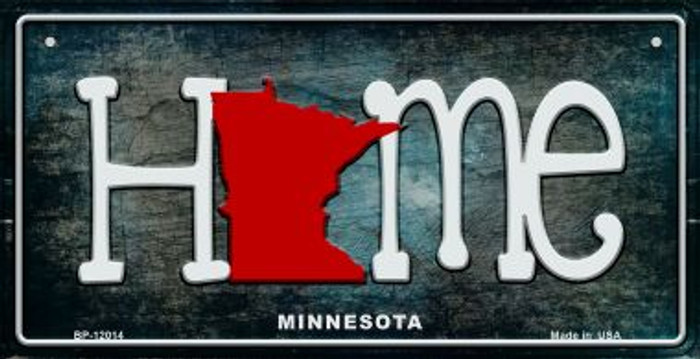 Minnesota Home State Outline Novelty Bicycle Plate BP-12014